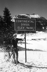Laura O'Callahan at the Continental Divide