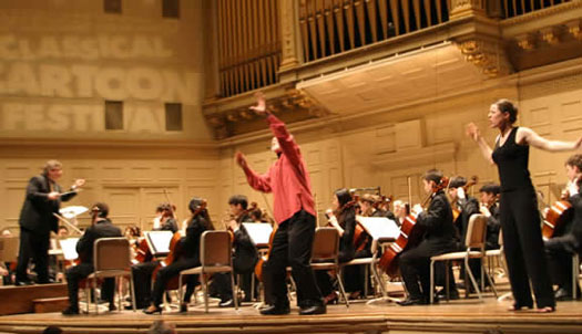 Jay performing Peer Gynt At Boston Symphony Hall with Steven Karidoyanes conducting. Jay's daughter, Laura, interprets the story for the Deaf.